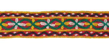 kant isolerad textil Royaltyfri Bild