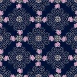 Kant kleurrijk etnisch bloemen naadloos patroon met borduurwerkhond Royalty-vrije Stock Foto's