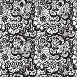 Kant naadloos patroon met bloemen Stock Fotografie