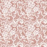 Kant naadloos patroon met bloemen Royalty-vrije Stock Afbeeldingen