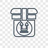 Kant op concepten vector lineair die pictogram op transparante backg wordt geïsoleerd vector illustratie