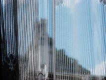 Kant op gevoelige mooi van de venster blauwe hemel Royalty-vrije Stock Foto's