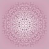 Kant roze patroon - vectorillustratie Stock Afbeelding