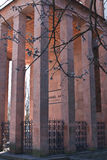 Kant's burial place. Famous philosopher Immanuel Kant was buried in this colonnade and his tomb is seen through the fence. Kaliningrad, Russia, spring, 2011 Royalty Free Stock Photography