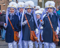 2017 Kant van Binche Carnaval Stock Afbeeldingen