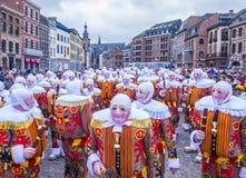 2017 Kant van Binche Carnaval Royalty-vrije Stock Afbeeldingen