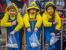 2017 Kant van Binche Carnaval Stock Fotografie