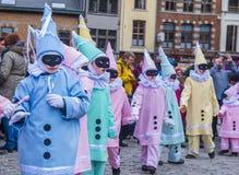 2017 Kant van Binche Carnaval Royalty-vrije Stock Afbeelding