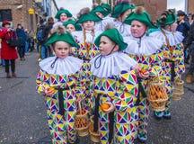 2017 Kant van Binche Carnaval Royalty-vrije Stock Fotografie