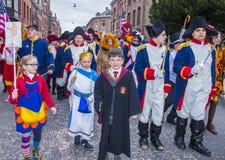 2017 Kant van Binche Carnaval Stock Afbeelding