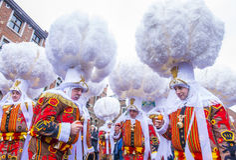 2017 Kant van Binche Carnaval stock foto's