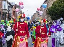2017 Kant van Binche Carnaval Royalty-vrije Stock Foto