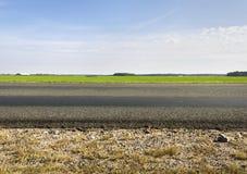 Kant van de weg. Stock Foto