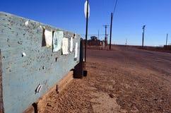Kant van de weg Noticeboard stock afbeeldingen