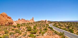 Kant van de weglandschap in Utah Stock Foto's
