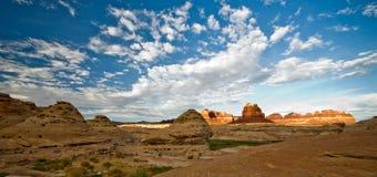 Kant van de weglandschap in Utah op het noordelijke eind van Glen Canyon Stock Fotografie