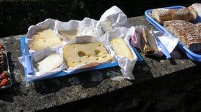 Kant van de wegpicknick, Frankrijk Stock Foto's