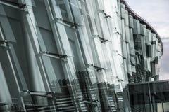 Kant van een glas collectief gebouw Stock Foto's