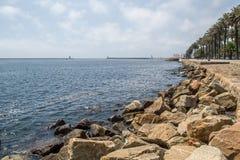 Kant van overzeese kust Stock Foto's
