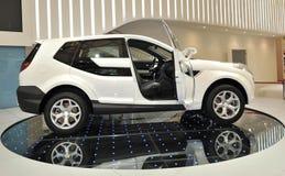Kant van witte jeep Royalty-vrije Stock Afbeeldingen