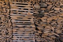 Kanta brädet i förberedelse för bunthögplank royaltyfri fotografi