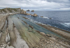 Kantabrien, Costa Quebrada, erstaunliche Felsformationen lizenzfreies stockbild
