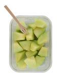 Kantaloepmeloenen met plakken klaar te eten Royalty-vrije Stock Afbeelding