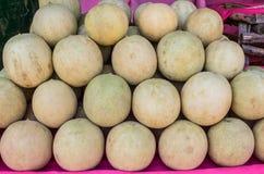 Kantaloepmeloenen op markt Royalty-vrije Stock Afbeelding