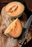 Kantalup, dojrzały melon obrazy stock