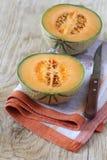 Kantalup, dojrzały melon zdjęcie royalty free
