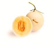Kantalupa melon odizolowywający na białym tle Zdjęcia Royalty Free