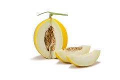kantalupa melonu kolor żółty fotografia stock