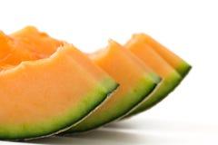 Kantalupa melonu plasterki fotografia stock