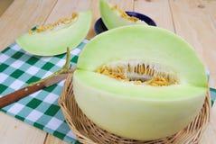Kantalupa melonu zieleń Obrazy Royalty Free