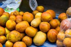Kantalupe im thailändischen Markt Stockfotos