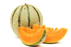 Kantalupe melone stockfotografie