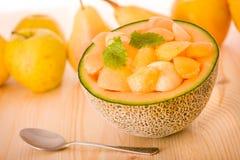 Kantalupe-Melone-Nachtisch lizenzfreie stockfotografie