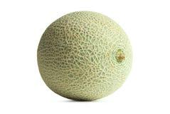 Kantalupe oder Warzenmelone getrennt auf weißem backgrou stockbild