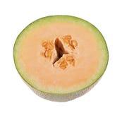 Kantalupenmelone lokalisiert auf weißem Hintergrund Lizenzfreie Stockfotografie