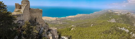 Kantara城堡,塞浦路斯 免版税库存照片