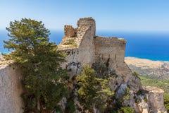 Kantara城堡,塞浦路斯 免版税库存图片
