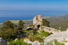 Kantara城堡,塞浦路斯 库存图片