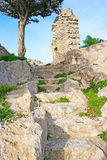 Kantara castle path Royalty Free Stock Photography