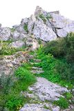 Kantara castle path Royalty Free Stock Photos