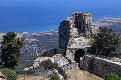 Kantara Castle - Turkish Republic of Northern Cyprus Stock Image