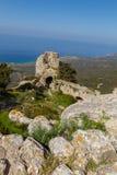 Kantaru kasztel, Cypr Obrazy Stock