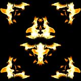 kantbrandflammor royaltyfri illustrationer
