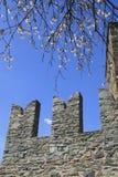 Kantelen in Fenis-kasteel Royalty-vrije Stock Fotografie