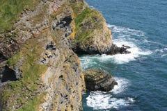 Kanten av irelanden, klippor arkivbild
