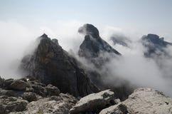 Kanten av panorama via ferratarutten i de Lienz dolomitesna, Österrike Royaltyfri Bild